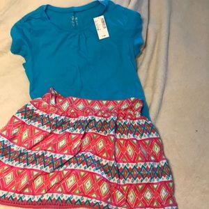 Children's Place girls tee and skirt NWT